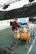 Kevin testing the kit